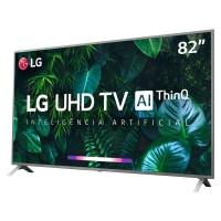 SMART TV LED 82 LG 4K ULTRA HD C/ IA DTS SURROUND HDMI USB WIFI