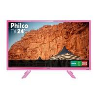 TV LED 24 PHILCO HDMI USB RCA CONVERSOR DIGITAL - ROSA