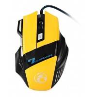 MOUSE GAMMER USB 2400 DPI SPORS YELLOW