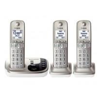TELEFONE SEM FIO PANASONIC 3 FONES COM BLOQUEADOR VIVA VOZ