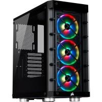 GABINETE GAMER CORSAIR RGB C/ FAN LATERAL E FRONTAL DE VIDRO 465X