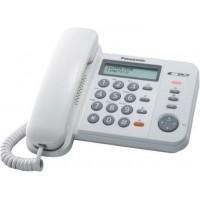 TELEFONE FIXO PANASONIC C/ CONTROLE DE VOLUME AUSCULTADOR - FUNÇÃO REDISCADO E FLASH - BRANCO