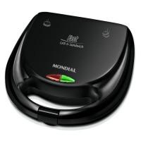 SANDUICHEIRA GRILL MONDIAL 750W PRETA