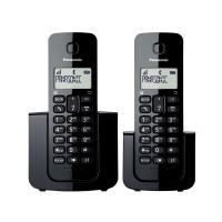 TELEFONE SEM FIO PANASONIC COM RAMAL E IDENTIFICADOR - PRETO