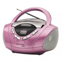 RADIO CD PLAYER PORTATIL MONDIAL - ROSA