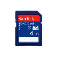 CARTAO DE MEMORIA CLASSE 4 SD/SDHC - SANDISK 4GB