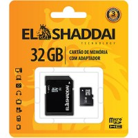 CARTAO DE MEMORIA SD/SDHC - 32GB ELSHADAY