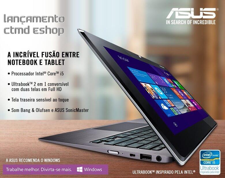 ULTRABOOK + TABLET ASUS CORE I5 4GB RAM HD 128 SSD TELA 11TAICHI21-CW003H