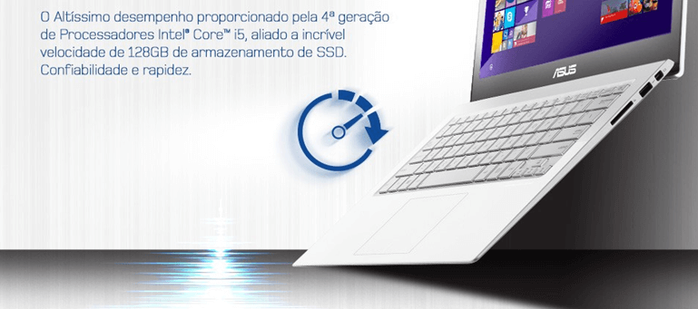 ULTRABOOK ASUS TOUCH CORE I5 4GB RAM HD 128GB  WIN10 TELA LED 13
