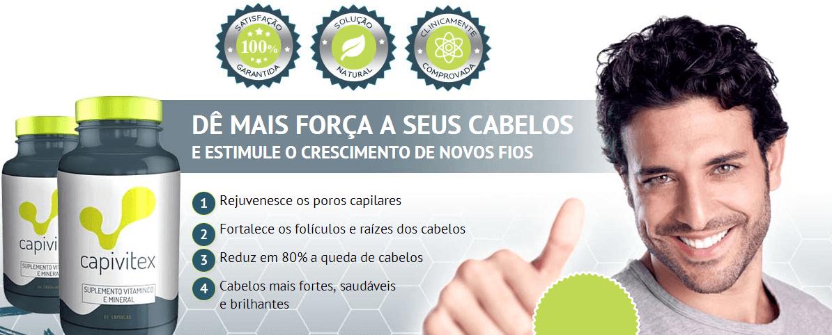 SUPLEMENTO VITÁMINICO PARA TRATAMENTO DA CALVÍCIE E QUEDA DE CABELO - CAPIVITEX