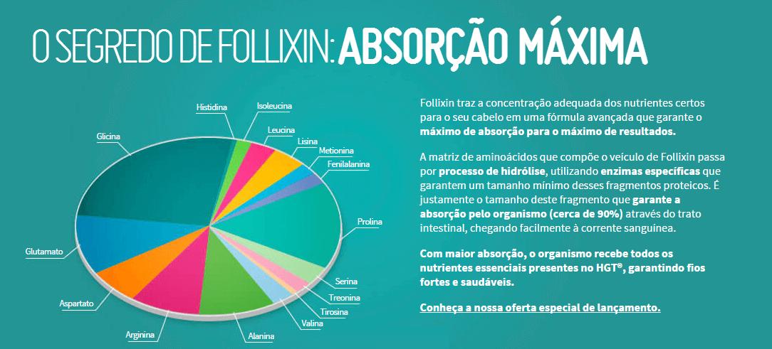 FOLLIXIN - SUPLEMENTO VITAMÍNICO PARA TRATAMENTO DA QUEDA DE CABELO