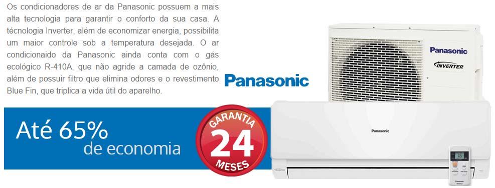 AR CONDICIONADO INVERTER SPLIT PANASONIC 22000 BTUs FRIO 220v
