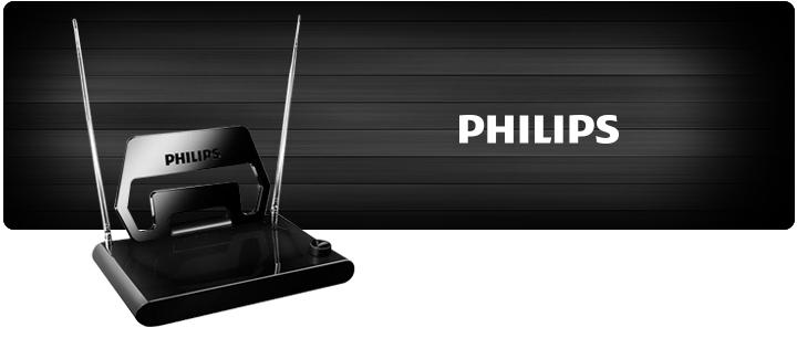 ANTENA TV INTERNA PHILIPS VHF UHF FM HDTV