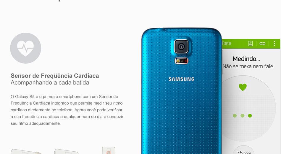 SMARTPHONE SAMSUNG GALAXY S5 Android 4.4.2, Quad Core 2.5 Ghz, 4G, 16Gb, Câmera 16Mp